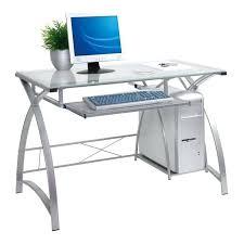 Large Black Computer Desk Large Glass Computer Desk Computer Desk Glass Glass And Wood