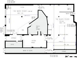 Tv Studio Floor Plan by Beautiful Architectural House Floor Plans Along With Decorations