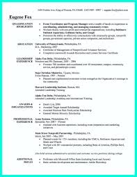Sample Resume Objectives Event Coordinator by Sample Resume Executive Director Non Profit Organization