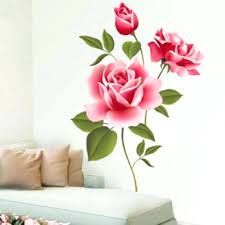 quality home decor wall ideas creative gifts pvc 3d rose flower romantic love wall
