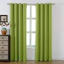 Green And Beige Curtains Amazlinen Sleep Well Blackout Curtains Toxic Free Energy Smart