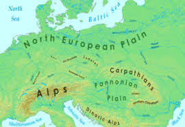 europe phisical map central europe