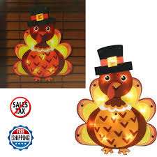 thanksgiving turkey decoration lighted thanksgiving turkey window decoration silhouette sign 16