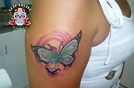 sleeve cover up with butterfly design by artist