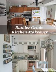 Smaller Kitchen Makeovers Kitchen Makeover Reveal U0026 A Giveaway Builder Grade Kitchen