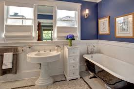 bathroom built in modern bathroom with top down bottom up shades