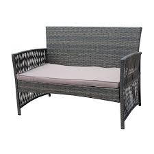 White Wicker Patio Furniture - furniture new entrancing model of rattan bench for gorgeous home