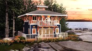 home plan for a wheelhouse cottage cabin living