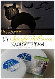 diy spooky halloween black cat page 2 of 2 pinkwhen