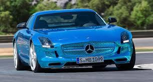 blue mercedes mercedes s striking blue sls amg coupé electric drive priced