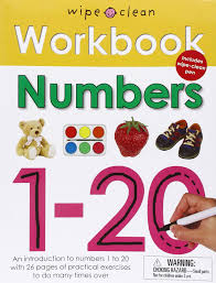 amazon com wipe clean workbook numbers 1 20 9780312508692