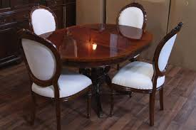 All Wood Kitchen Table by Dining Room Gorgeous Round Solid Wood Pedestal Dining Table As