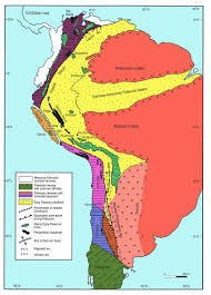 Middle And South America Map by Tectonicandes