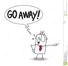go away stock vector image 44706943