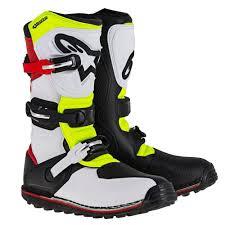 motocross boots alpinestars 2018 alpinestars tech t trials mx motocross boots white red flou