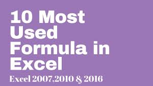 Sas 70 Report Exle by 10 Most Used Excel Formula