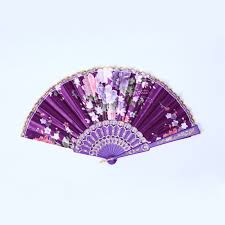hand fans for sale chinese flower floral fabric lace folding hand fan dancing wedding