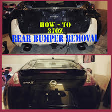 nissan altima coupe rear diffuser 370z rear bumper removal nissan how to tutorial youtube