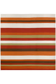 Stripe Indoor Outdoor Rug Tangerine Stripe Indoor Outdoor Rug Cottage Home