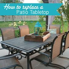 Patio Table Top Makeover An Outdoor Table And Refresh Chairs Patio Table