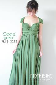 plus size sage green bridesmaid dress maxi infinity dress prom