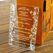 acrylic wedding invitations acrylic wedding invitations clear acrylic wedding invitation