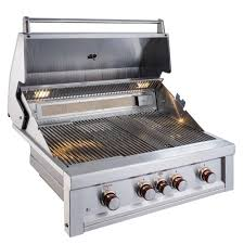 sunstone ruby 4 burner pro sear 36 in built in gas grill natural