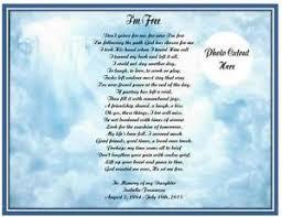 i u0027m free personalized memorial poem gift loss of mother daughter