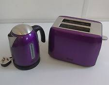 Brushed Stainless Steel Kettle And Toaster Set Caravan Toaster Ebay