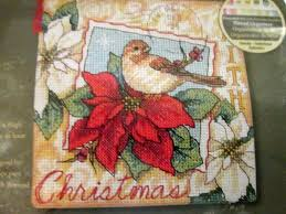 5 dimensions christmas ornament counted cross stitch kits