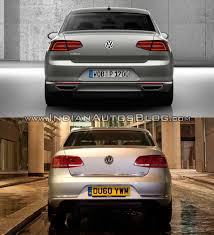 passat volkswagen 2011 2015 vw passat vs 2011 vw passat rear indian autos blog