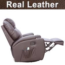 Swivel Chair Ireland Cinemo Real Leather Recliner Chair Rocking Massage Swivel Heated
