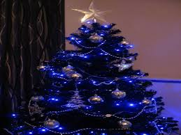 christmas tree with blue lights learntoride co