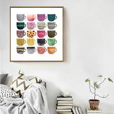 poster k che abstrakte multi farben tassen leinwand malerei poster und druck