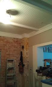 Drop Ceiling Tiles For Bathroom They Removed A Drop Ceiling And Replaced With Beadboard Between
