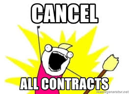 All The Things Meme Generator - cancel all contracts all te things meme generator