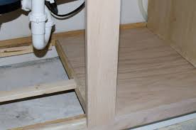 sink kitchen cabinet base repair replace water damaged cabinet bottom the domestic