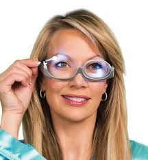 magnifying eyeglasses with light as seen on tv ez makeup glasses asseenontvstore com