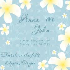 Wedding Invitation Card Free Download Wedding Invitation Card With White Flowers On Blue Vector Image