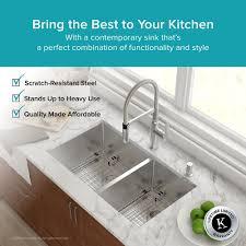 undermount double kitchen sink stainless steel kitchen sinks kraususa com