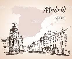 Madrid Spain Map Madrid Hand Drawn Street Spain Stock Vector Art 547163426 Istock