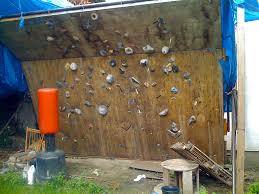 backyard rock climbing wall design and ideas of house