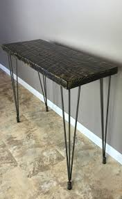 salvaged wood console table reclaimed barn wood console table with leveling legs 30 height