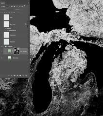 Abbreviated Map Of The United States by Terrain In Photoshop Layer By Layer Somethingaboutmaps