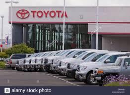 dealership usa toyota truck dealership sales lot california usa stock photo