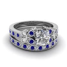 Diamond Sapphire Wedding Ring largest selection of blue sapphire wedding ring sets fascinating