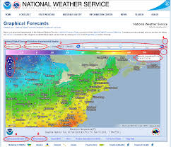 Weather Map For United States by National Digital Forecast Database Page Help