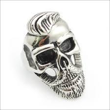 cool skull rings images Wesupplies old gentleman beard skull ring punk rock cool fashion jpg