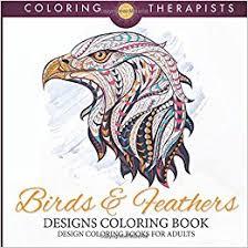 amazon com birds feathers designs coloring book design