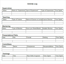 Log Excel Template Activity Log Template 12 Free Word Excel Pdf Documents